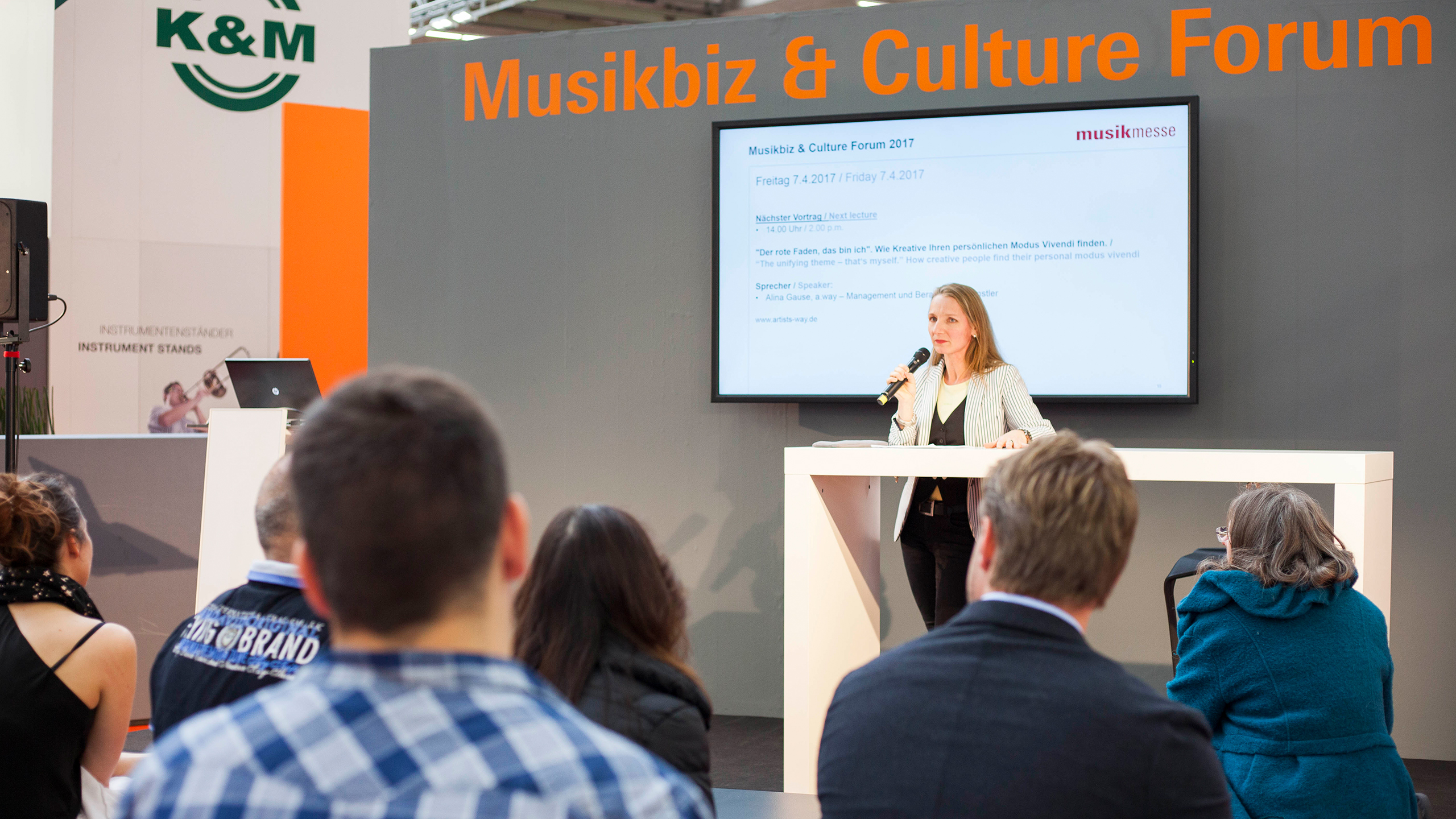 lecture at the Musicbiz & Culture Forum