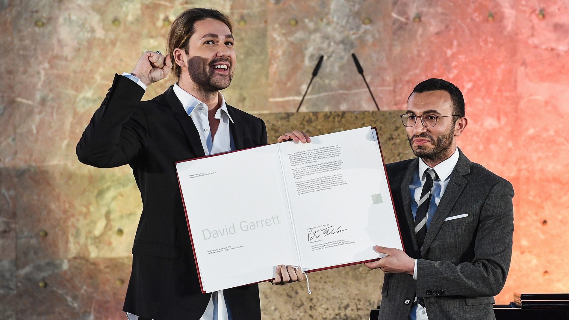 The Music Prize is handed over to David Garrett
