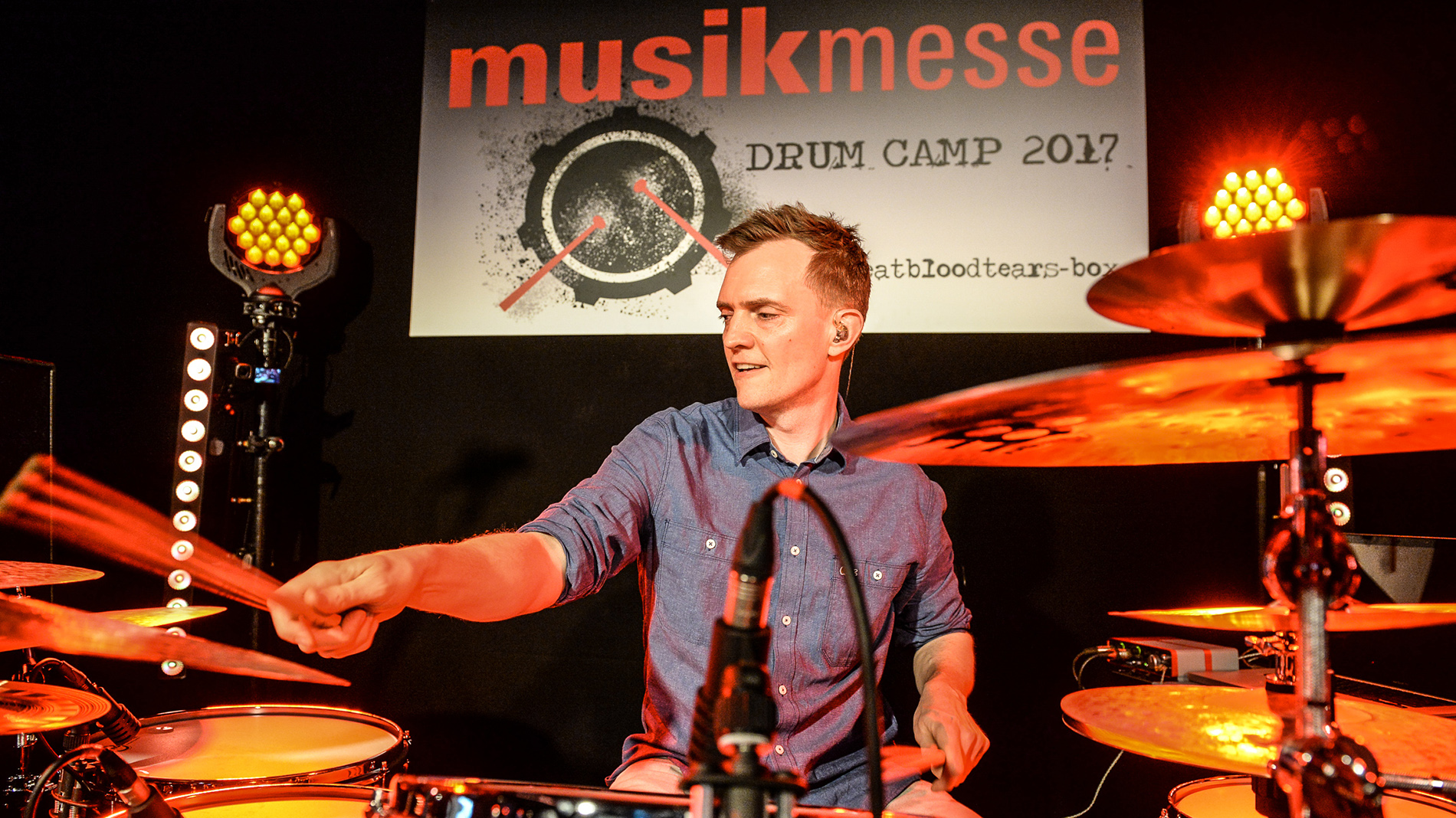 Drummer at the Drum Camp at Musikmesse in Frankfurt am Main