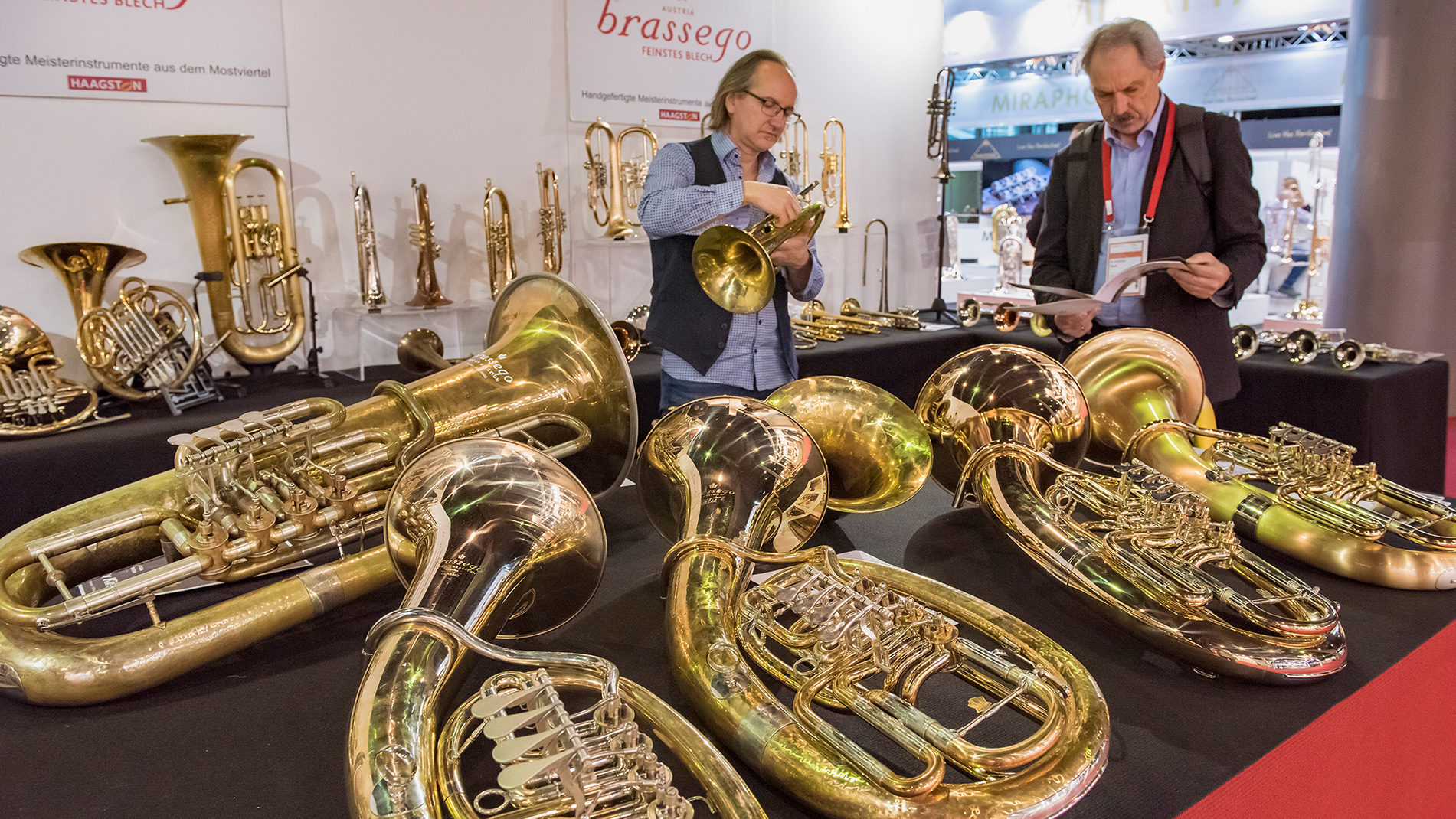 Wind instruments at Musikmesse