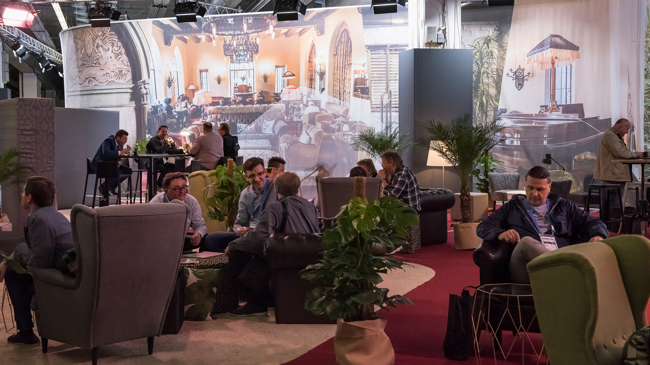 Networking Lounge with visitors of the Musikmesse