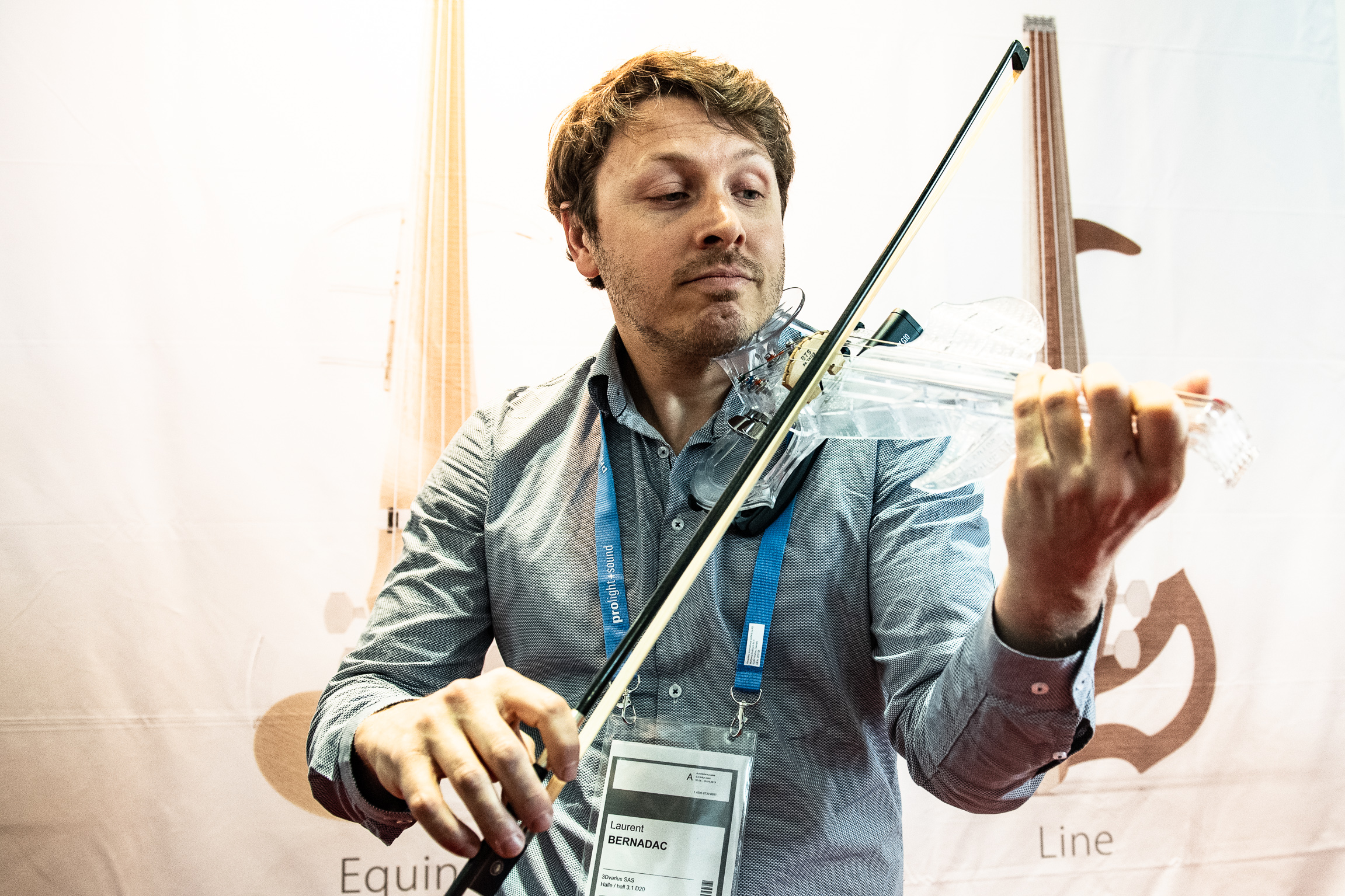 Laurent Bernadac, french violinist, creator of the 3DVarius