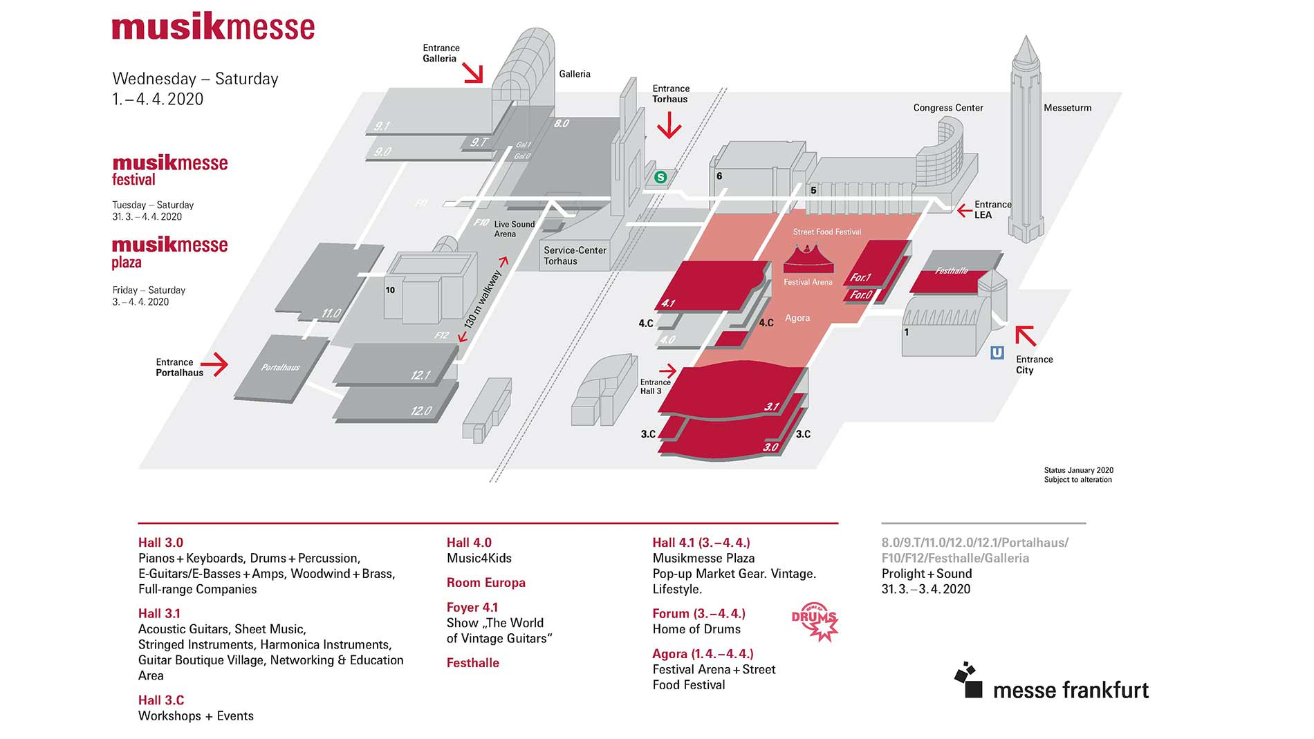 Hall plan Musikmesse 2020