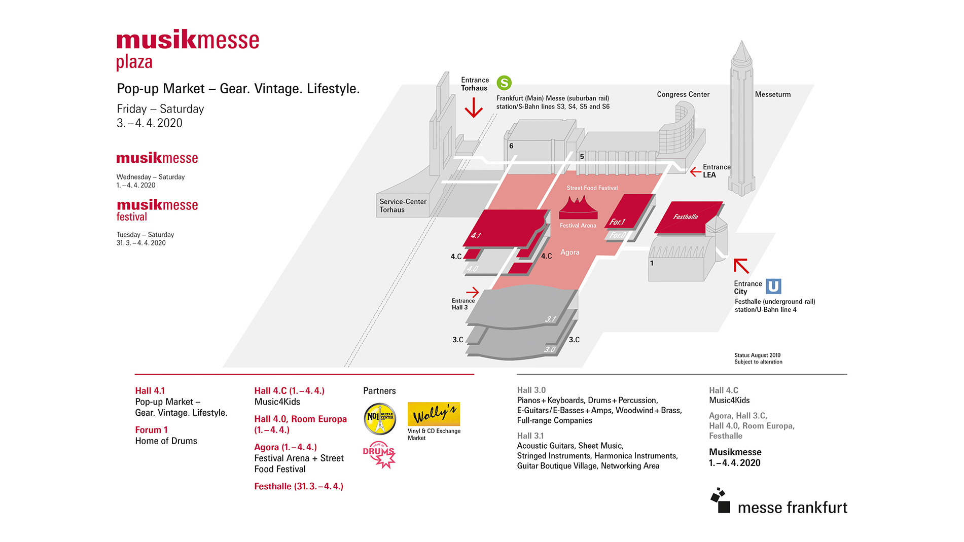 Musikmesse hall plan 2020