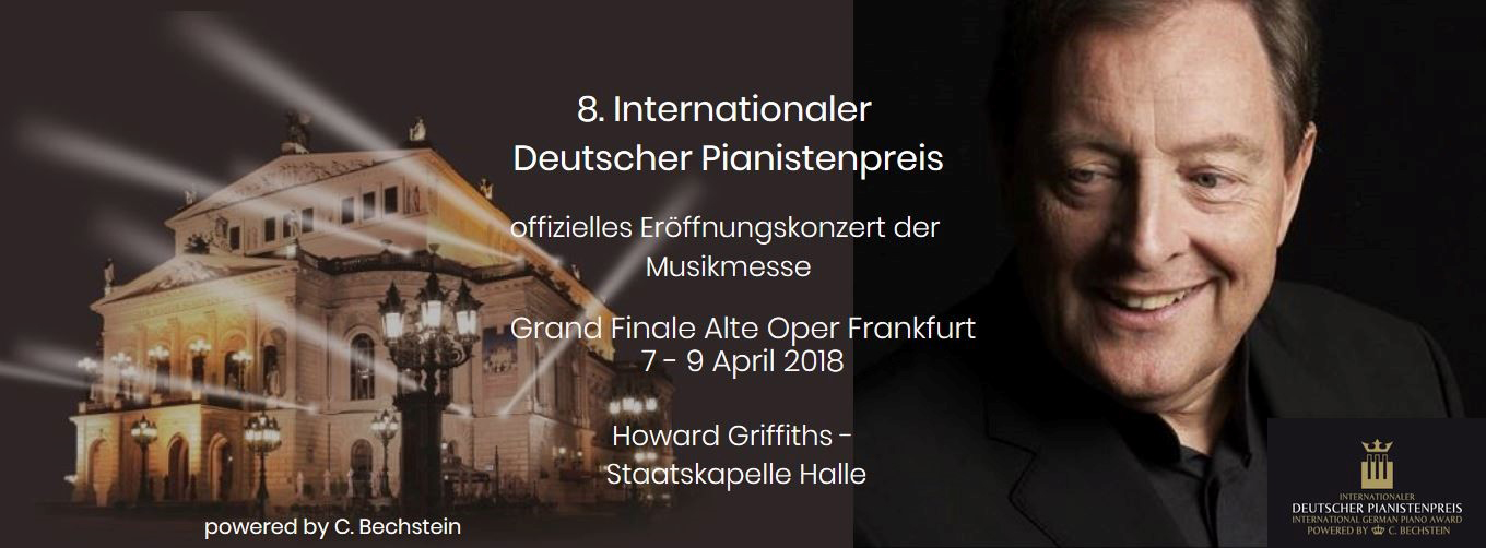Poster of the th 'International German Piano Award' in the Alte Oper Frankfurt